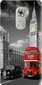 Red bus of London with Big Ben Case for Huawei Mate S