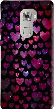 Space Hearts Case for Huawei Mate S