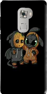 Groot x Dragon krokmou Case for Huawei Mate S