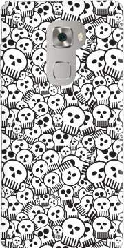 toon skulls, black and white Case for Huawei Mate S