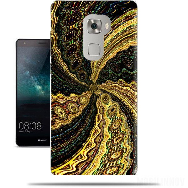 Case Twirl and Twist black and gold for Huawei Mate S