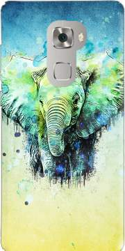 watercolor elephant Case for Huawei Mate S