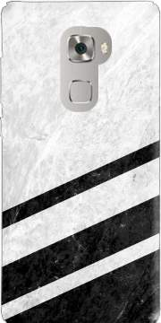 White Striped Marble Huawei Mate S Case