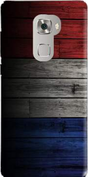 Wooden French Flag Case for Huawei Mate S