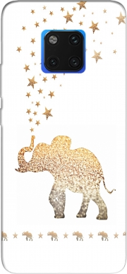 Gatsby Gold Glitter Elephant Case for Huawei Mate 20 Pro