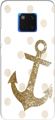 Glitter Anchor and dots in gold Case for Huawei Mate 20 Pro
