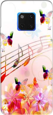 Musical Notes Butterflies Case for Huawei Mate 20 Pro