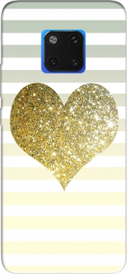 Sunny Gold Glitter Heart Case for Huawei Mate 20 Pro