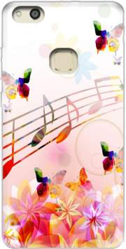 Musical Notes Butterflies for Huawei P10 Lite