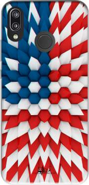 3D Poly USA flag Case for Huawei P20 Lite / Nova 3e