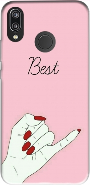 BFF Best Friends Pink Case for Huawei P20 Lite