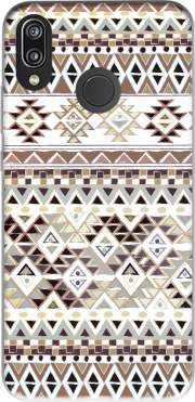 BROWN TRIBAL NATIVE for Huawei P20 Lite