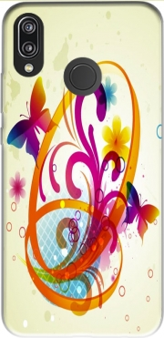 Butterfly with flowers Case for Huawei P20 Lite