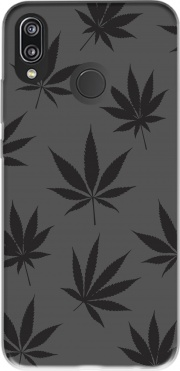 Cannabis Leaf Pattern Case for Huawei P20 Lite / Nova 3e