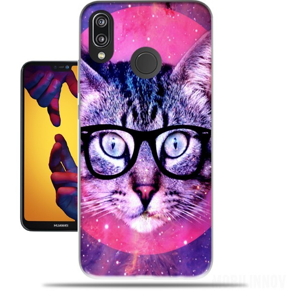 Case Cat Hipster for Huawei P20 Lite / Nova 3e