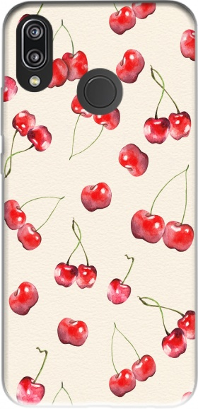 Case Cherry Pattern for Huawei P20 Lite / Nova 3e