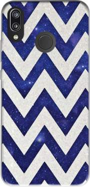 Chevron silver in night galaxy Case for Huawei P20 Lite