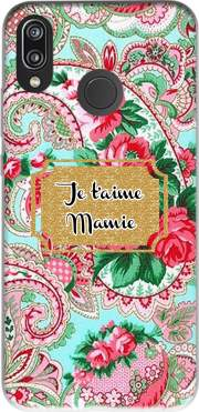 Floral Old Tissue - Je t'aime Mamie Case for Huawei P20 Lite