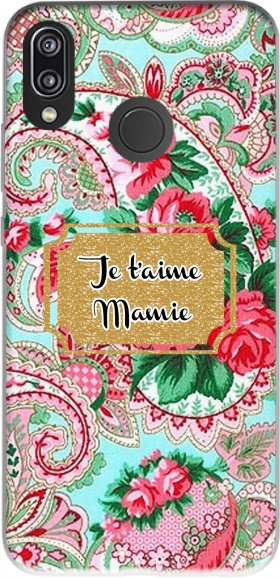 Case Floral Old Tissue - Je t'aime Mamie for Huawei P20 Lite