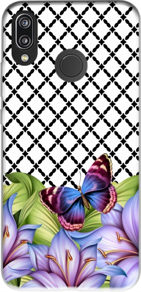 Case flower power Butterfly for Huawei P20 Lite / Nova 3e