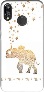 Gatsby Gold Glitter Elephant Case for Huawei P20 Lite