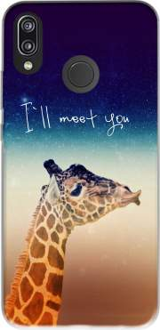 Giraffe Love - Left Case for Huawei P20 Lite