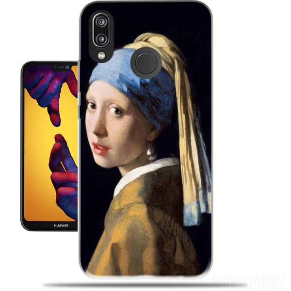 Case Girl with a Pearl Earring for Huawei P20 Lite / Nova 3e