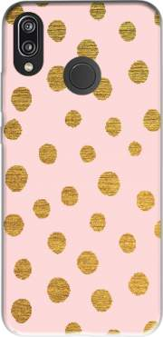 Golden Dots And Pink Case for Huawei P20 Lite / Nova 3e