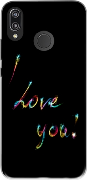 I love you - Rainbow Text Huawei P20 Lite Case