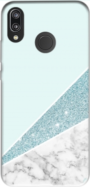 Initiale Marble and Glitter Blue Case for Huawei P20 Lite / Nova 3e