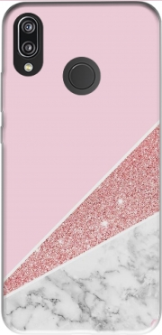 Initiale Marble and Glitter Pink Case for Huawei P20 Lite / Nova 3e