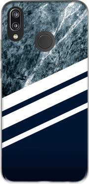 Marble Navy Case for Huawei P20 Lite