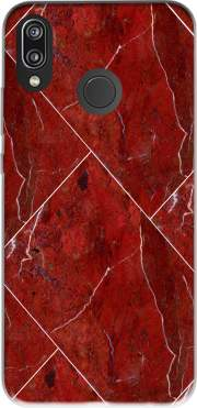 Minimal Marble Red Case for Huawei P20 Lite / Nova 3e