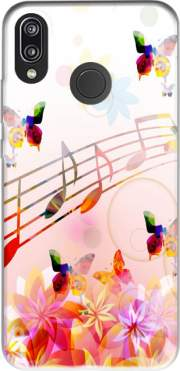 Musical Notes Butterflies for Huawei P20 Lite