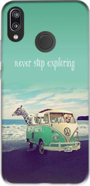 Never Stop Exploring - Lamas on Holidays Case for Huawei P20 Lite
