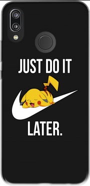 Nike Parody Just Do it Later X Pikachu for Huawei P20 Lite
