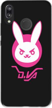 Overwatch D.Va Bunny Tribute Case for Huawei P20 Lite