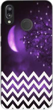 Purple moon chevron Case for Huawei P20 Lite