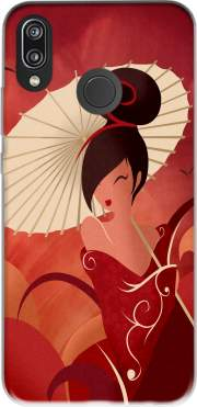 Sakura Asian Geisha Case for Huawei P20 Lite / Nova 3e