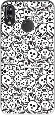 toon skulls, black and white for Huawei P20 Lite