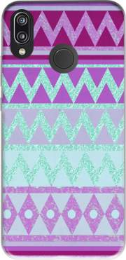 Tribal Chevron in pink and mint glitter Case for Huawei P20 Lite / Nova 3e