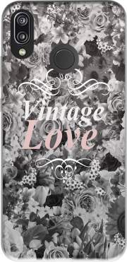 Vintage love in black and white Case for Huawei P20 Lite