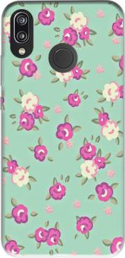Vintage Roses Pattern Case for Huawei P20 Lite