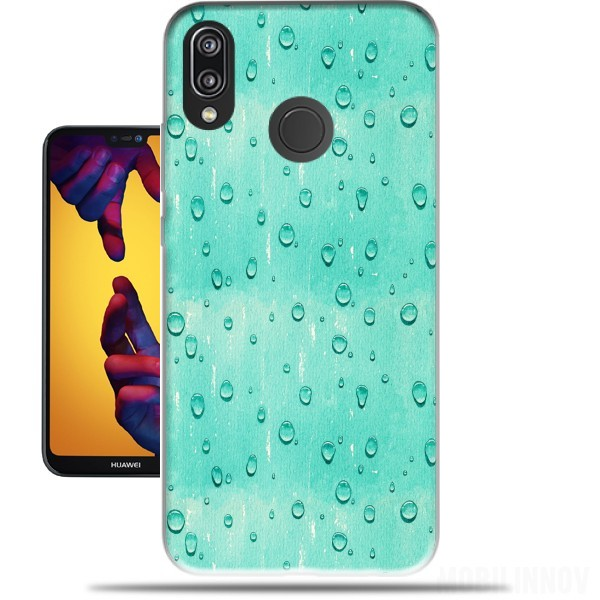 Case Water Drops Pattern for Huawei P20 Lite / Nova 3e