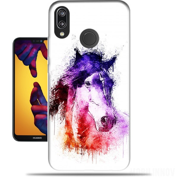 Case watercolor horse for Huawei P20 Lite / Nova 3e