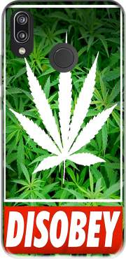 Weed Cannabis Disobey Case for Huawei P20 Lite / Nova 3e