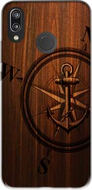 Wooden Anchor Case for Huawei P20 Lite / Nova 3e