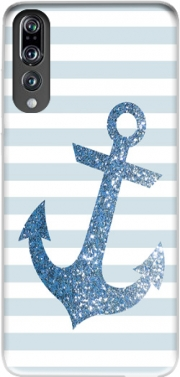 Blue Glitter Mariniere Case for Huawei P20 Pro / Plus