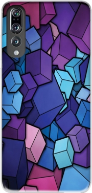Blue Cube Case for Huawei P20 Pro / Plus