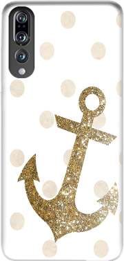 Glitter Anchor and dots in gold Case for Huawei P20 Pro / Plus
